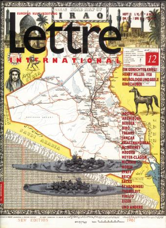 Cover Lettre International 12, Jannis Kounellis