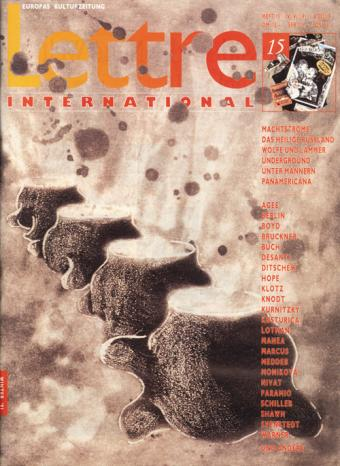 Cover Lettre International 15, Tony Cragg