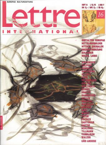 Cover Lettre International 16, Per Kirkeby