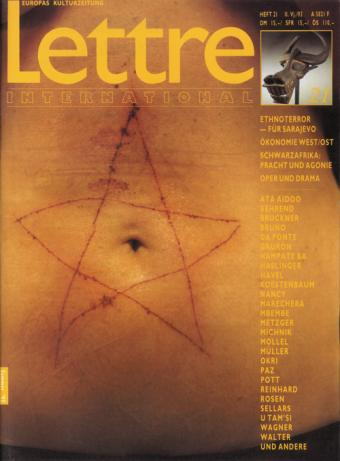 Cover Lettre International 21, Marina Abramovic