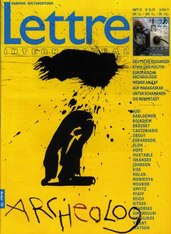 Cover Lettre International 22, Robert Wilson