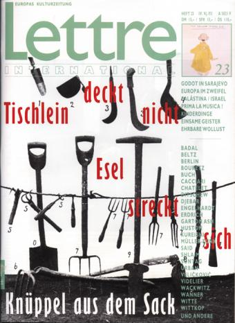 Cover Lettre International 23, Lothar Baumgarten