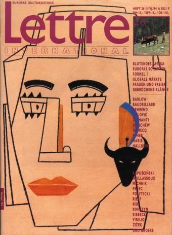 Cover Lettre International 26, Eduardo Arroyo