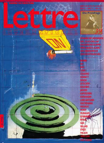 Cover Lettre International 39, Thomas Hornemann
