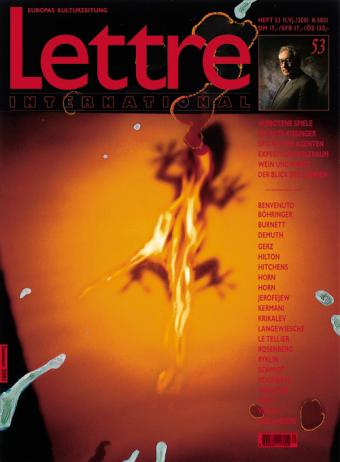 Cover Lettre International 53, Rebecca Horn