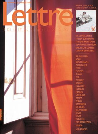 Cover Lettre International 56, Pedro Cabrita Reis