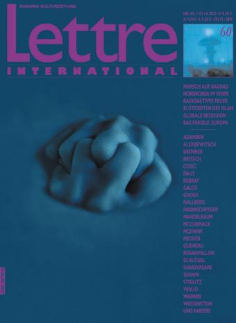 Cover Lettre International 60, Ann Mandelbaum
