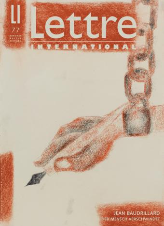 Cover Lettre International 77, Francesco Clemente
