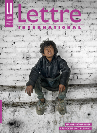 Cover Lettre International, Stanislas Guigui