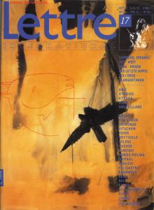 Cover Lettre International 17, Mimmo Paladino
