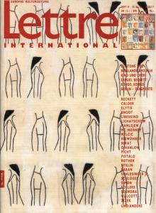 Cover Lettre International 19, Juliao Sarmento