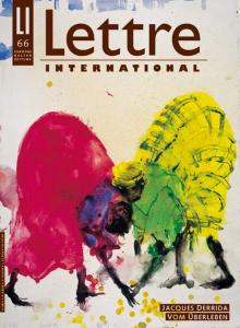 Cover Lettre International 66, Miquel Barceló