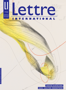Cover Lettre International, Jorinde Voigt