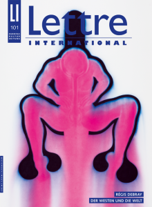 Cover Lettre International 101, Jürgen Klauke