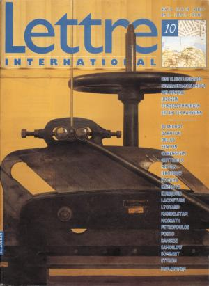Cover Lettre International 10, Rebecca Horn