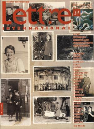Cover Lettre International 14, Christian Boltanski