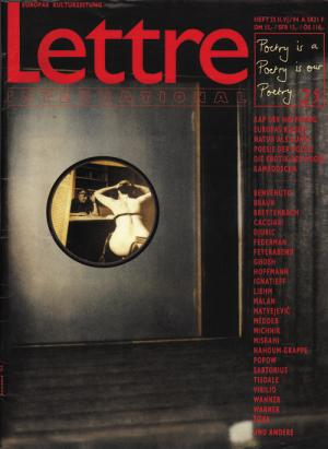 Cover Lettre International 25, Jakob Mattner