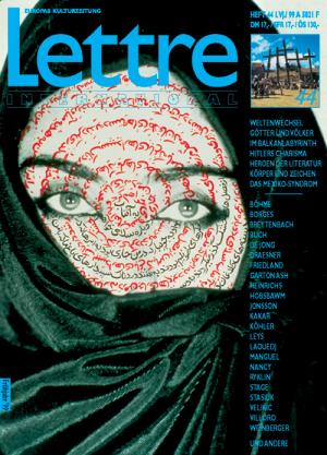 Cover Lettre International 44, Shirin Neshat