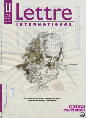 Cover Lettre International 75, David Godbold