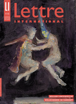 Cover Lettre International, Valérie Favre
