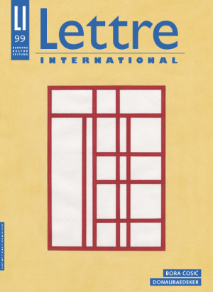 Cover Lettre International 99, Franz Erhard Walter