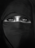 Robert Longo - Barbara in a Burka (2011)
