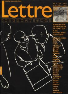 Cover Lettre International 20, Juan Muñoz
