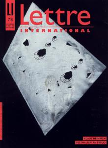 Cover Lettre International 78, Arturo Herrero