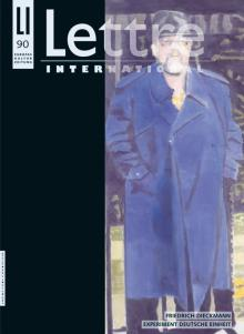 Cover Lettre International 90, Luc Tuymans
