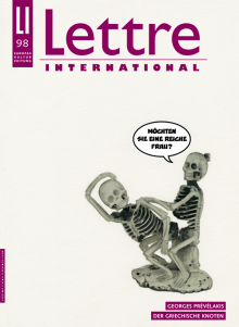 Cover Lettre International, Tobias Rehberger